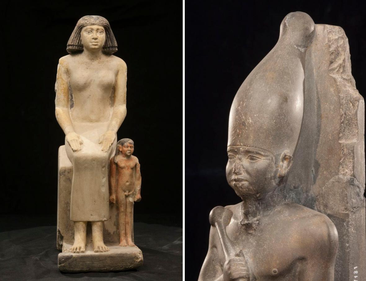 Z výstavy Sluneční králové (Národní muzeum)