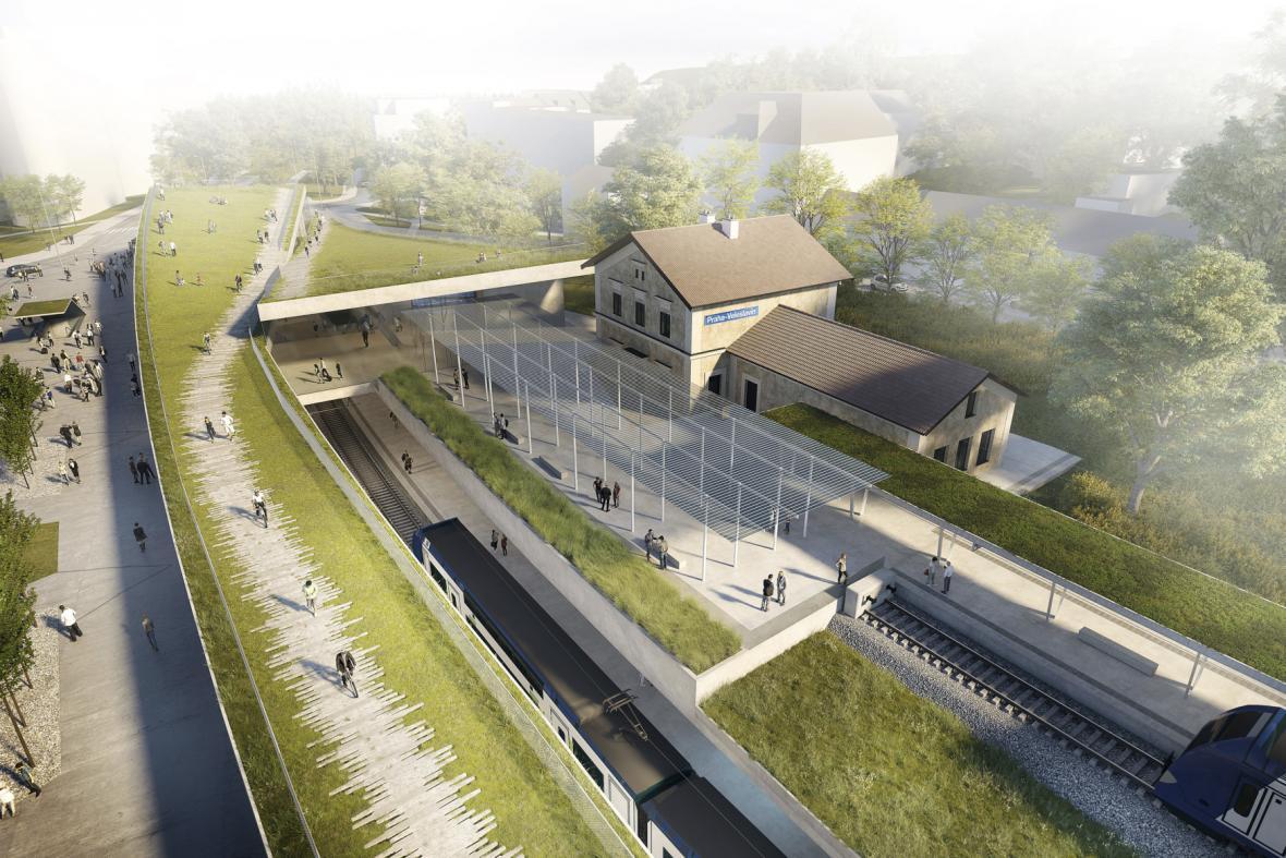 Vizualizace rekonstrukce veleslavínského nádraží