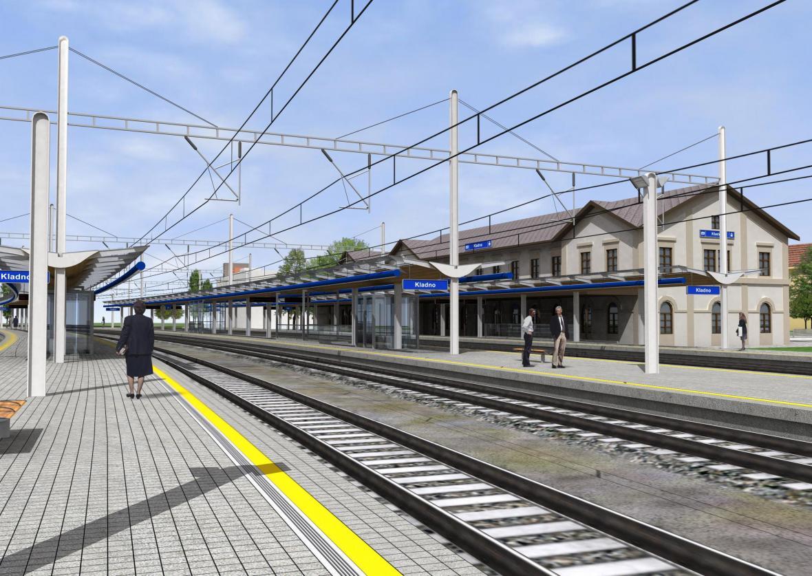 Vizualizace kladenského nádraží po rekonstrukci