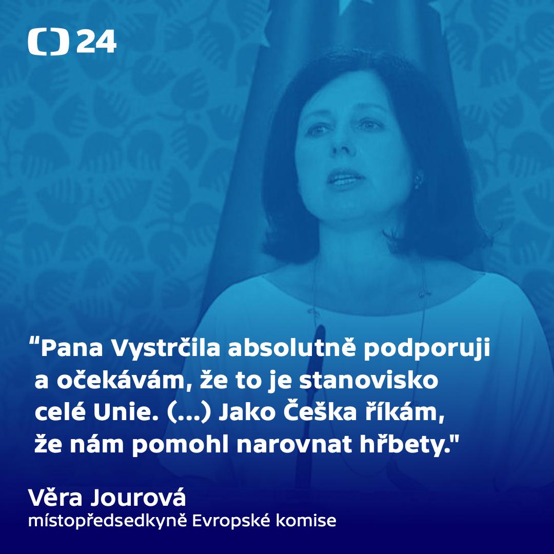Věra Jourová v Interview 24