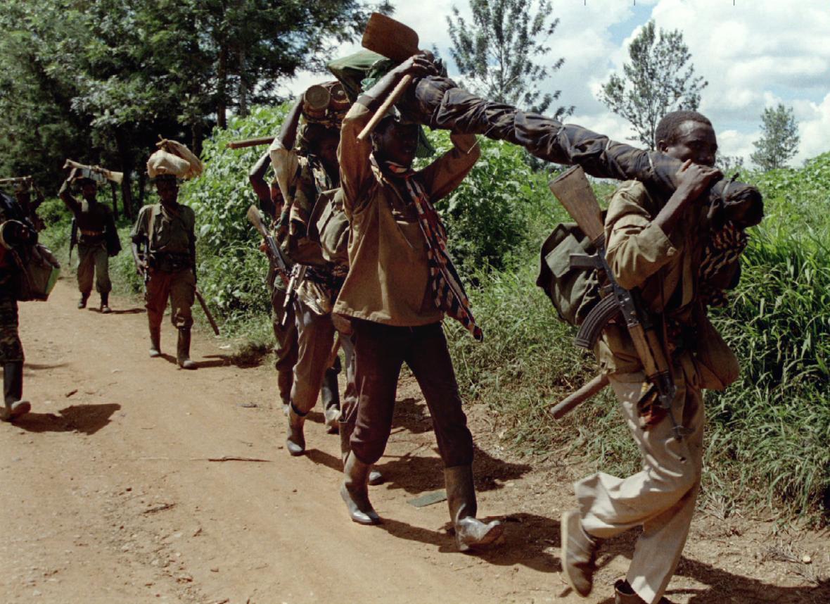 Vojáci Rwandské vlastenecké fronty (RPF)