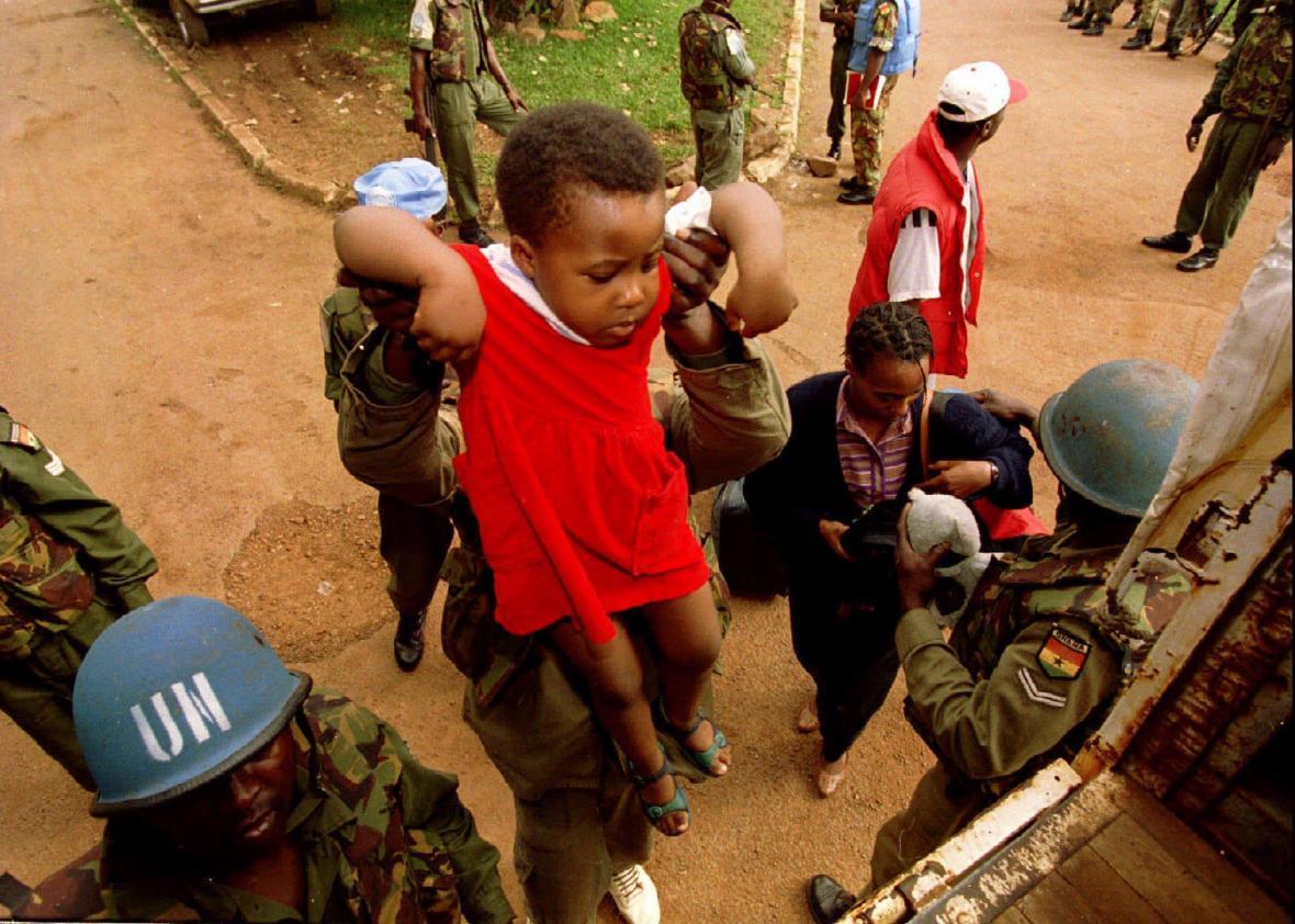 Modré přilby OSN ve Rwandě, rok 1994
