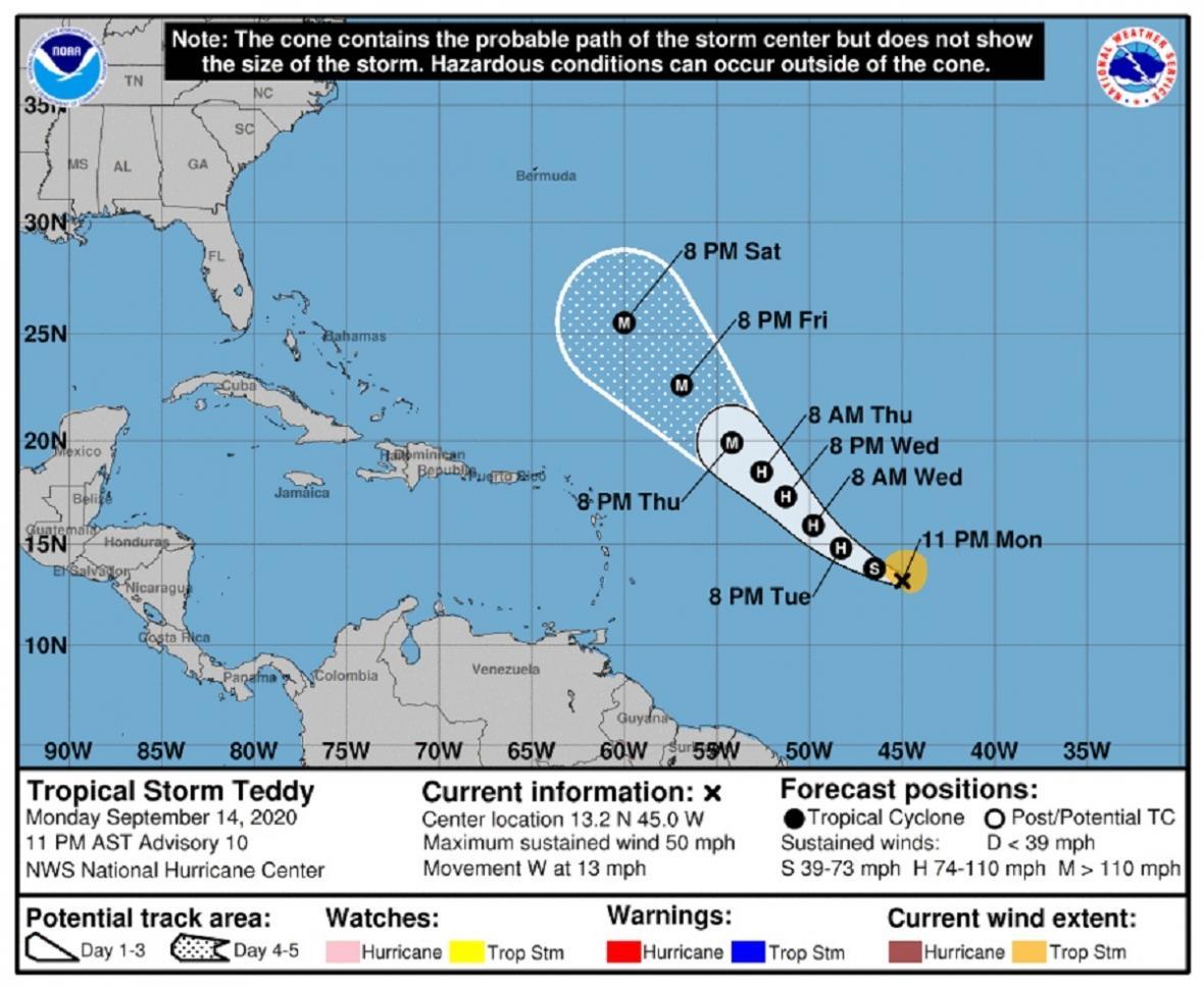 Tropická bouře Teddy