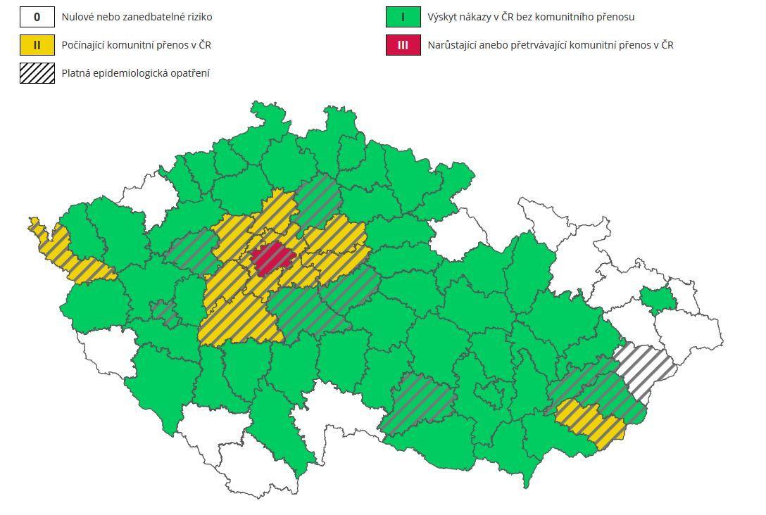 Aktuální epidemiologické situace v ČR