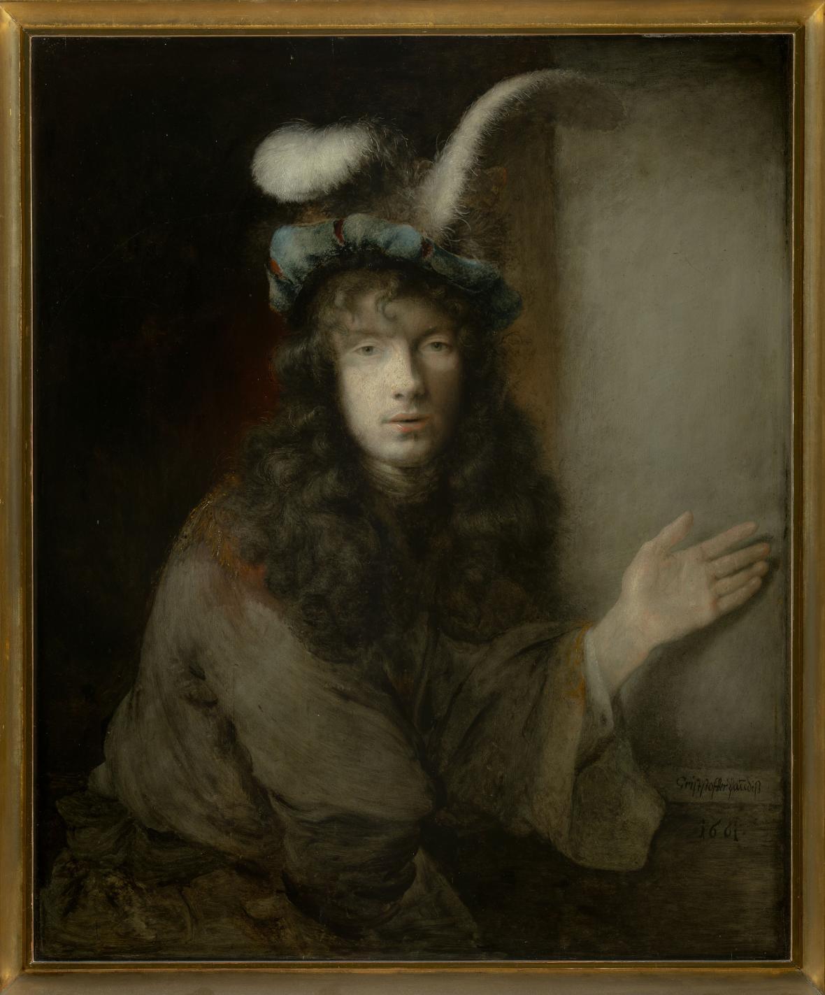 Christopher Paudiss / Podobizna mladého muže (autoportrét?), 1661