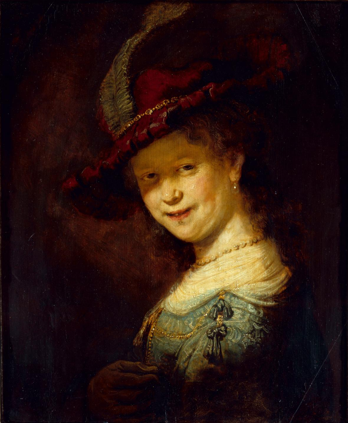 Rembrandt / Saskia Uylenburghová jako dívka, 1633