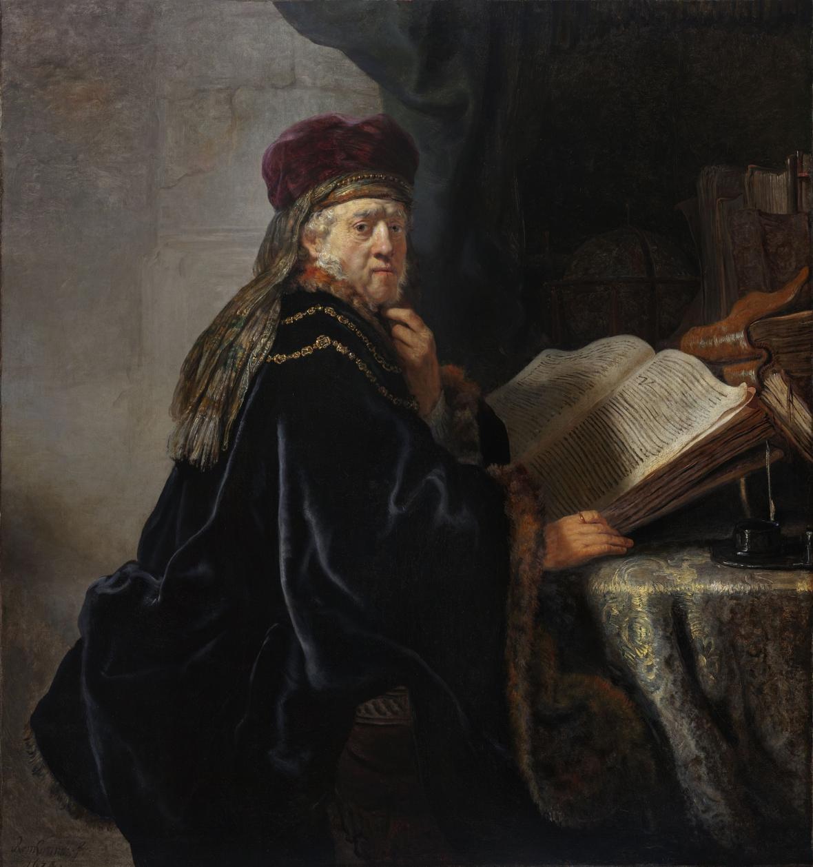 Rembrandt / Učenec v pracovně, 1634