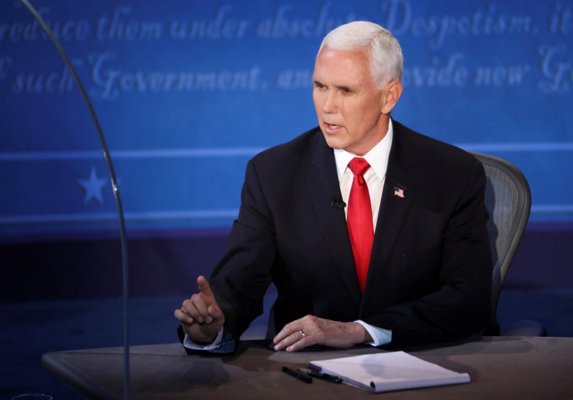 Mike Pence v debatě kandidátů na viceprezidenta USA