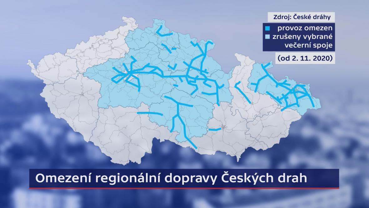 Omezení regionální dopravy ČD