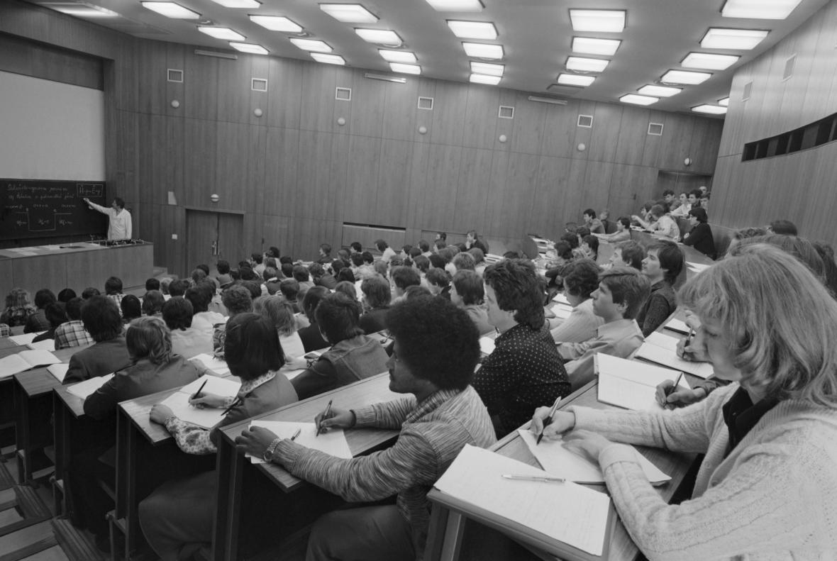 Výuka na VŠB v roce 1984