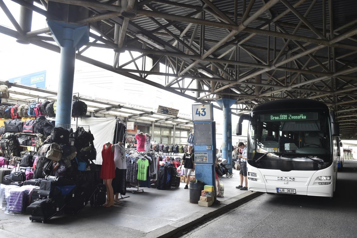 Autobusové nádraží Zvonařka před rekonstrukcí