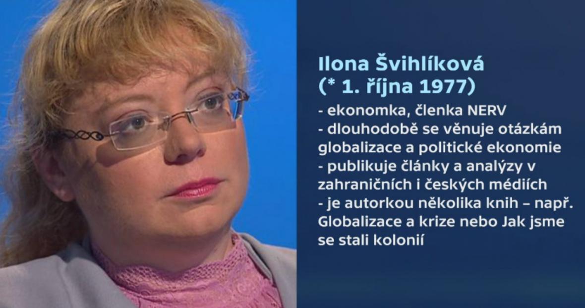Profil ekonomky Ilony Švihlíkové