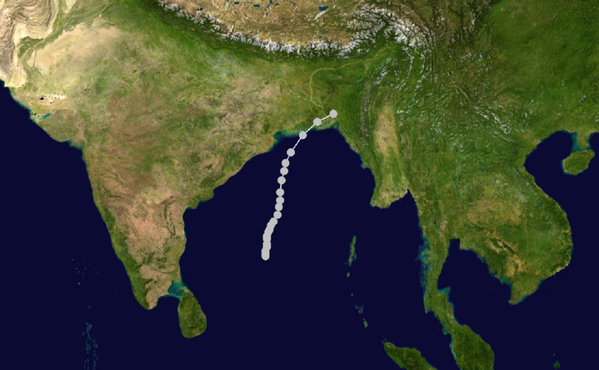 Trasa cyklonu Bhola