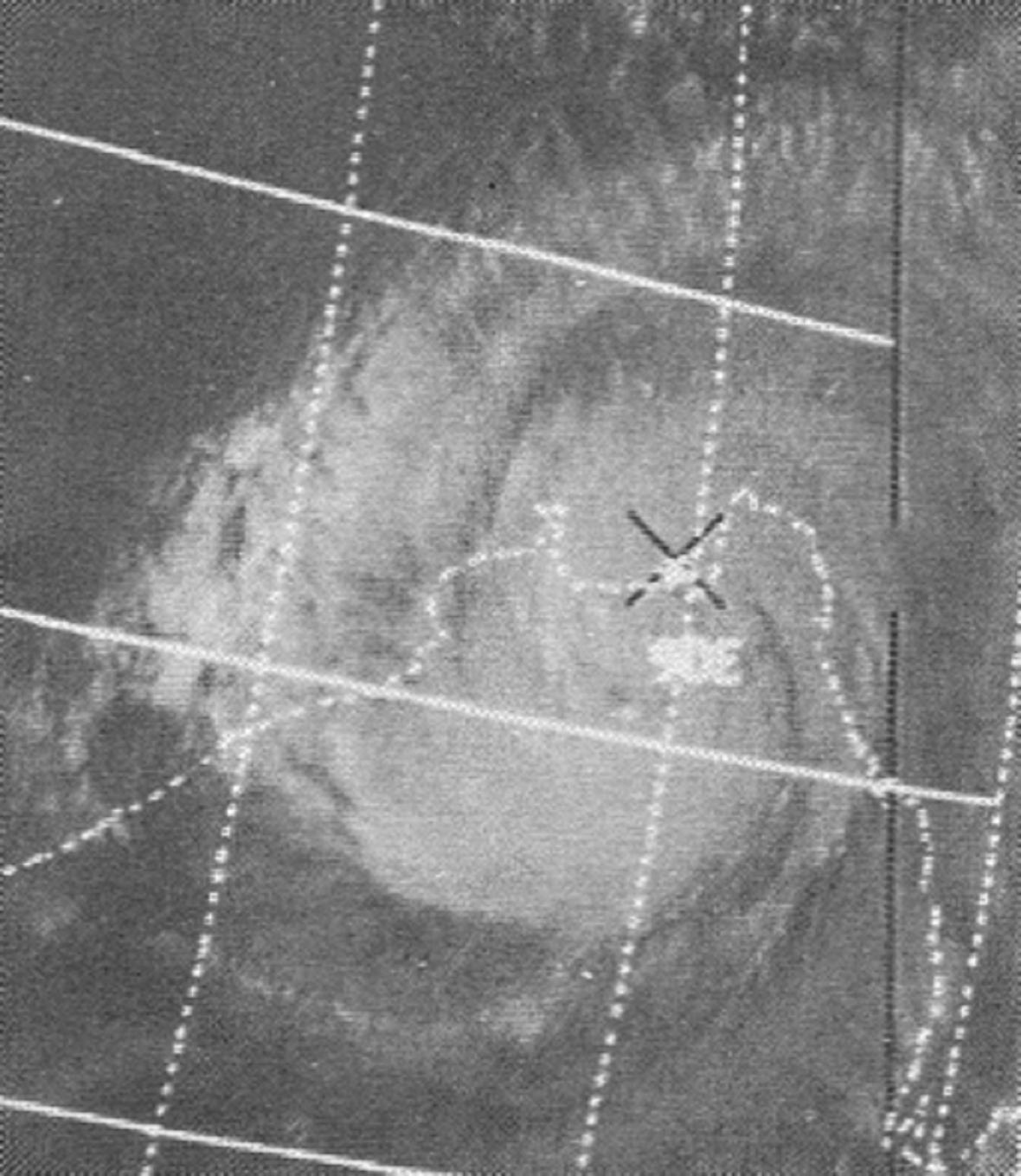 Dobový satelitní snímek cyklonu Bhola
