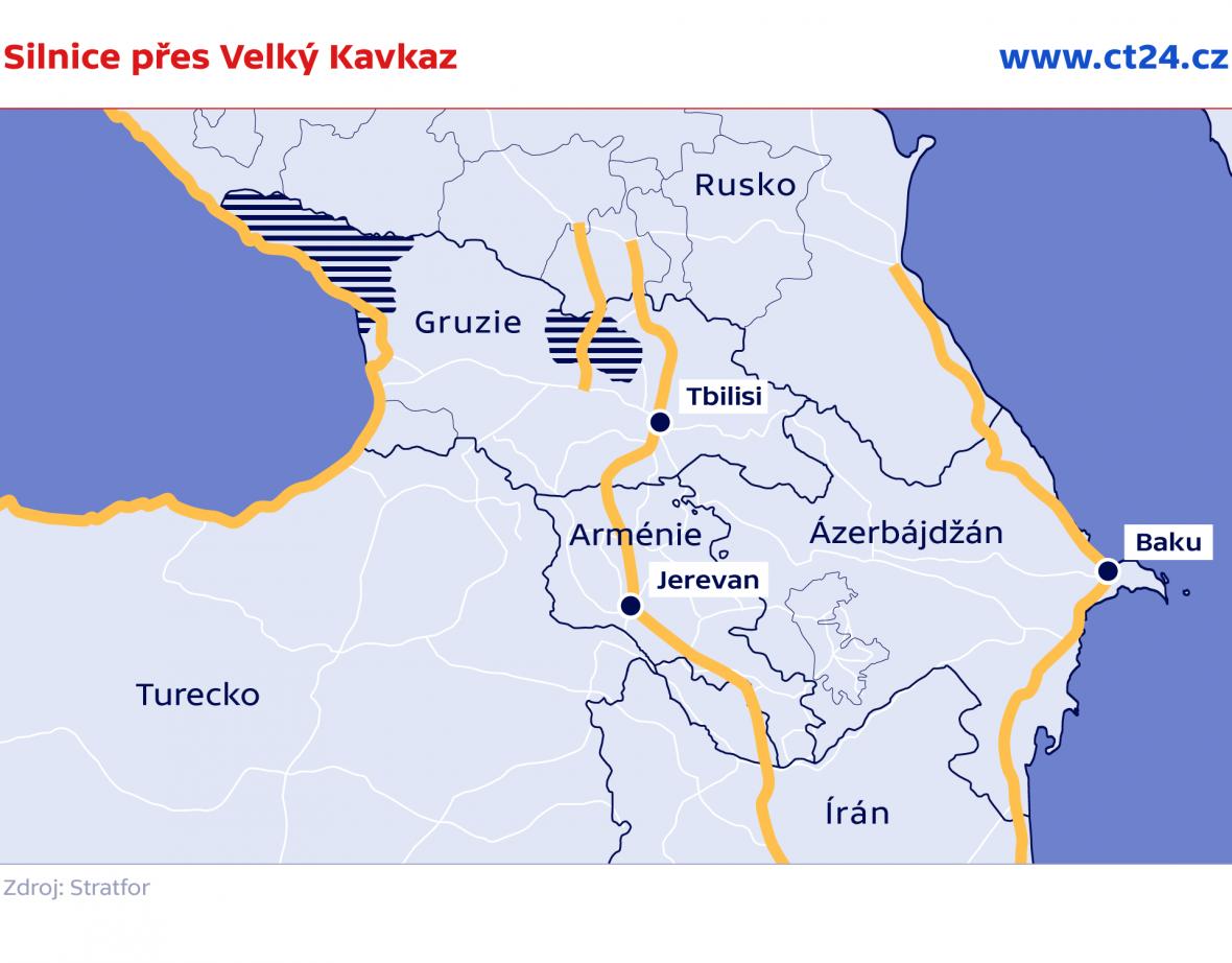 Silnice přes Velký Kavkaz