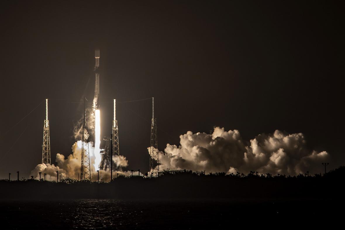 Sedmý start stejné rakety SpaceX