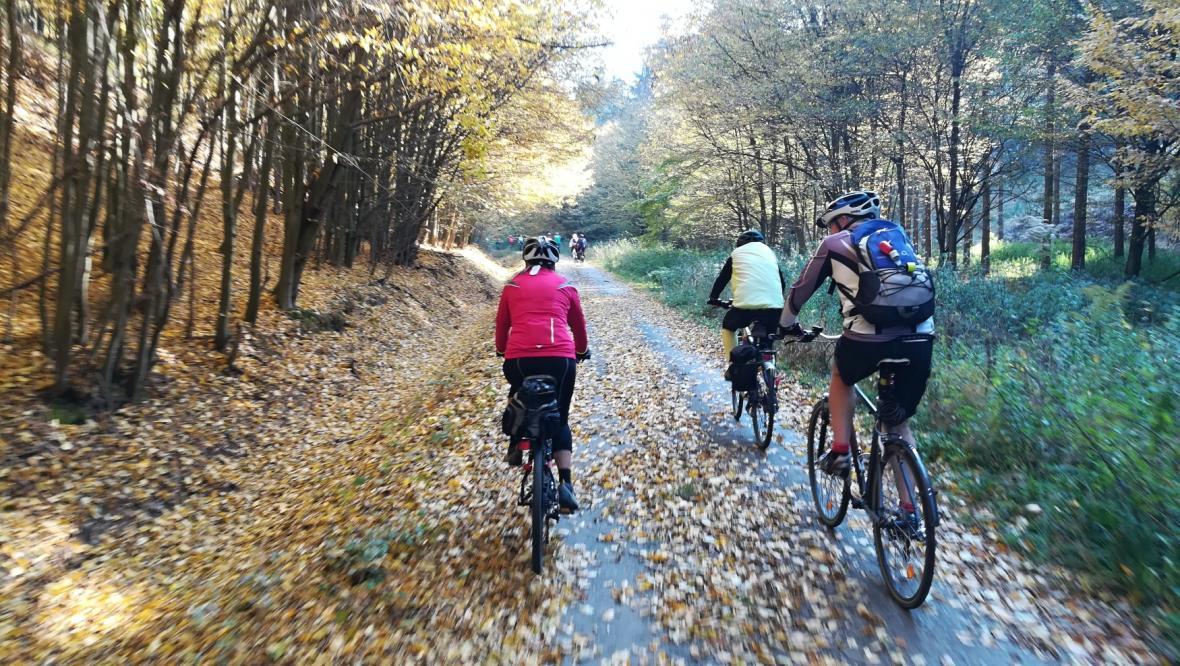 Cyklisté na Kokořínsku v říjnu 2020