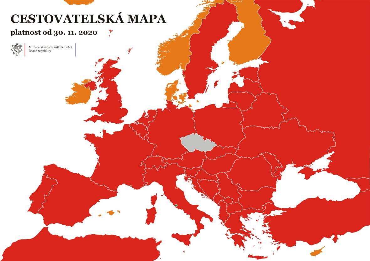 Cestovatelská mapa od 30. 11.