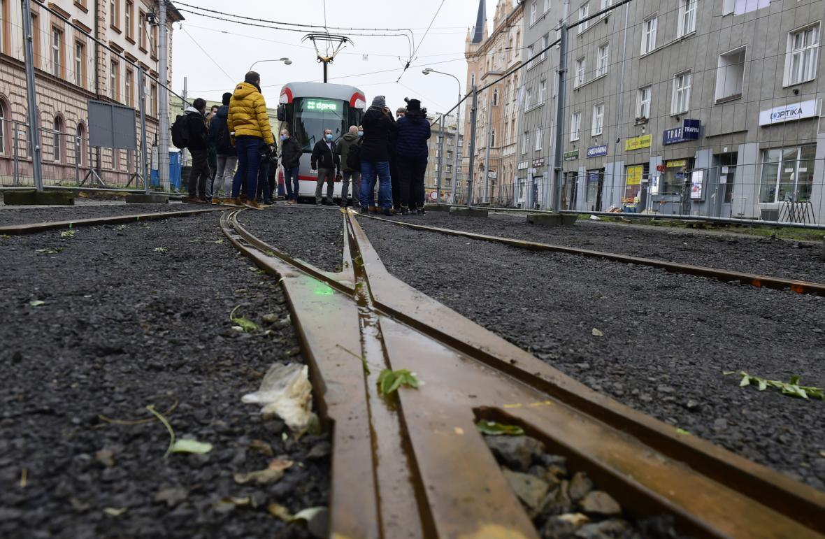 Výhybková úvrať v Masarykově ulici
