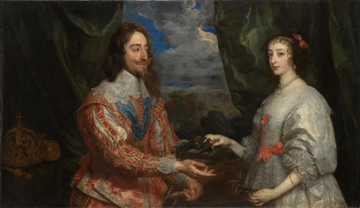 Anthonis van Dyck / Anglický král Karel I. a jeho manželka Henrietta Marie (1632–1634)