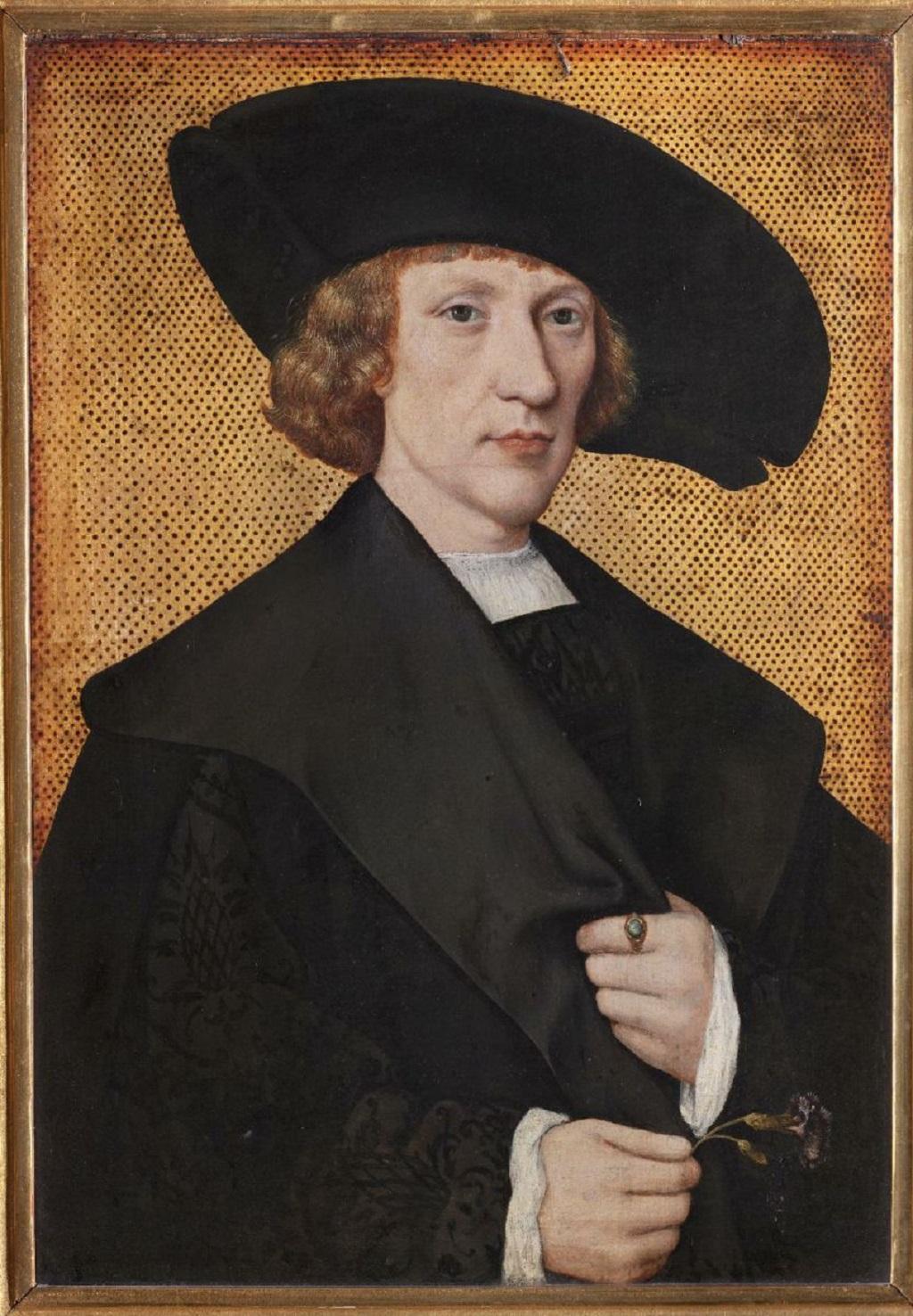 Podobizna muže s karefiátem od jihonizozemského malíře (kolem 1525)