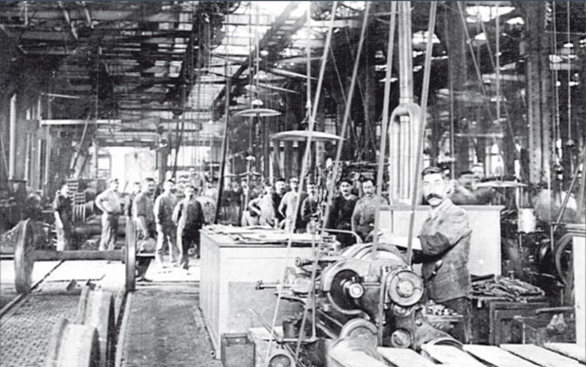 Továrna Le Coq Sportif na přelomu 19. a 20. století