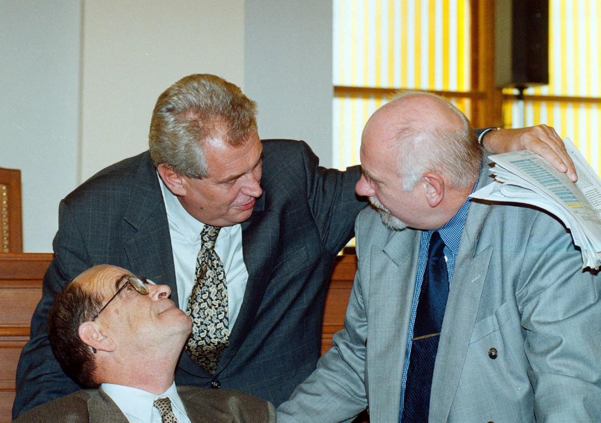 Otakar Motejl, Miloš Zeman a Pavel Rychetský