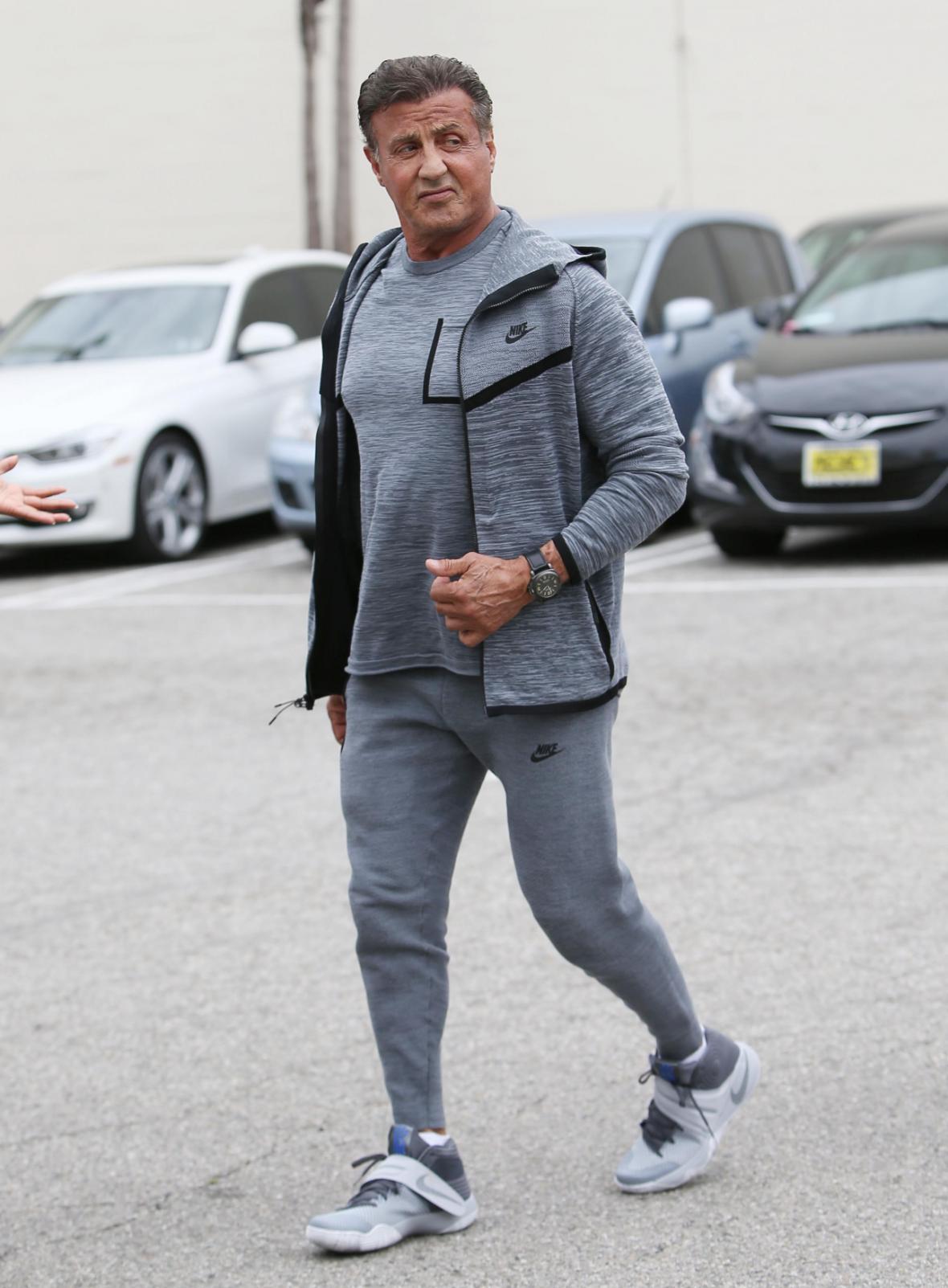 Hereck Sylvester Stallone holduje teplákům i dnes