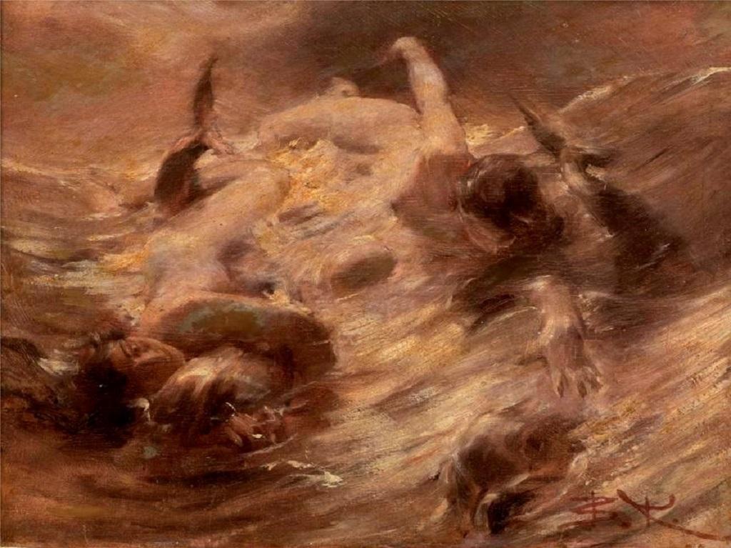 Beneš Knüpfer / Hra nymf s delfíny (1885)