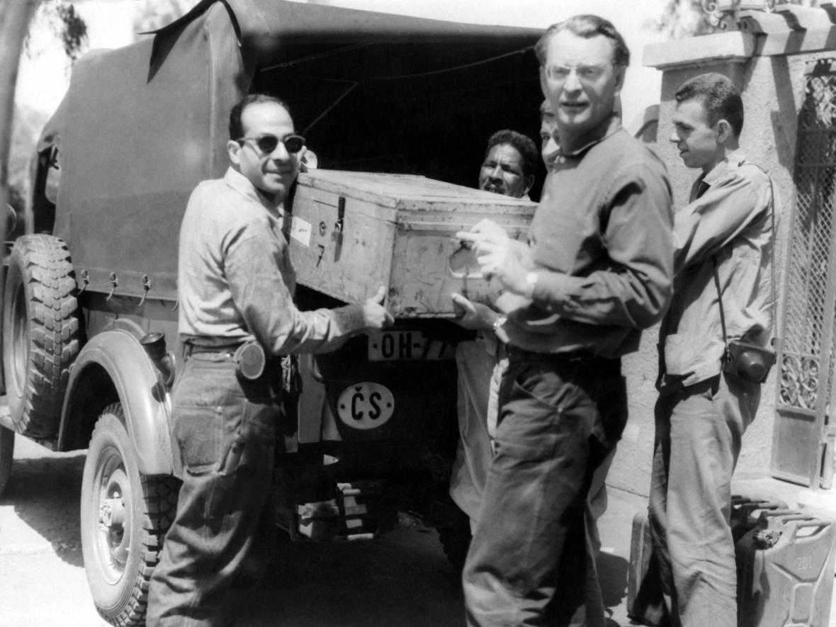 Expedice československých egyptologů (foto z roku 1963)