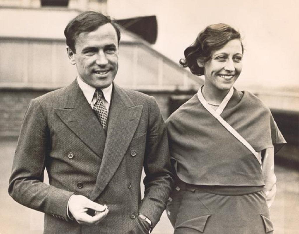 Amy Johnsonová s manželem Jimem Mollisonem