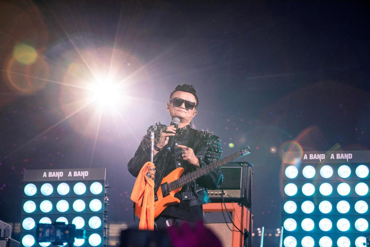 Jack Ma na oslavách dvacátého výročí založení obchodu Alibaba