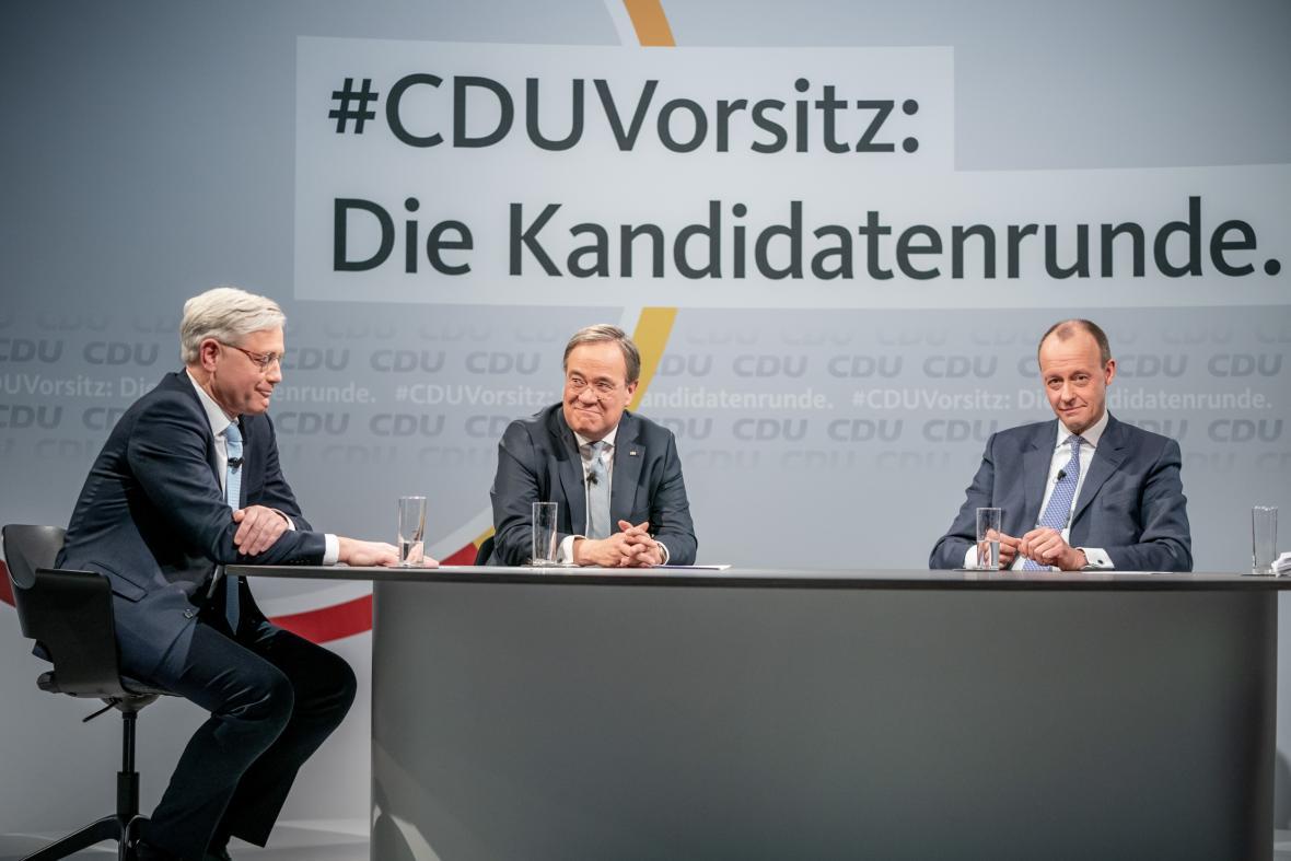 Debata kandidátů na předsedu CDU