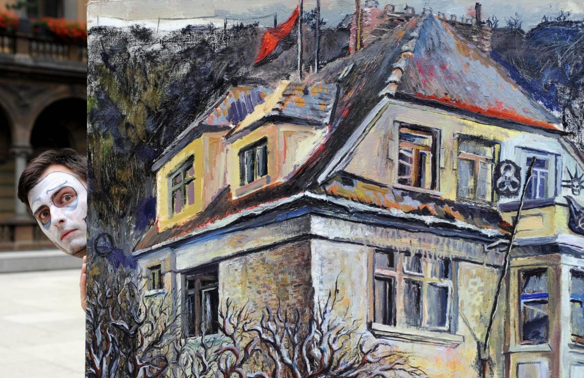 Průvod Prahou na podporu squatterů proti vystěhování z vily Milada