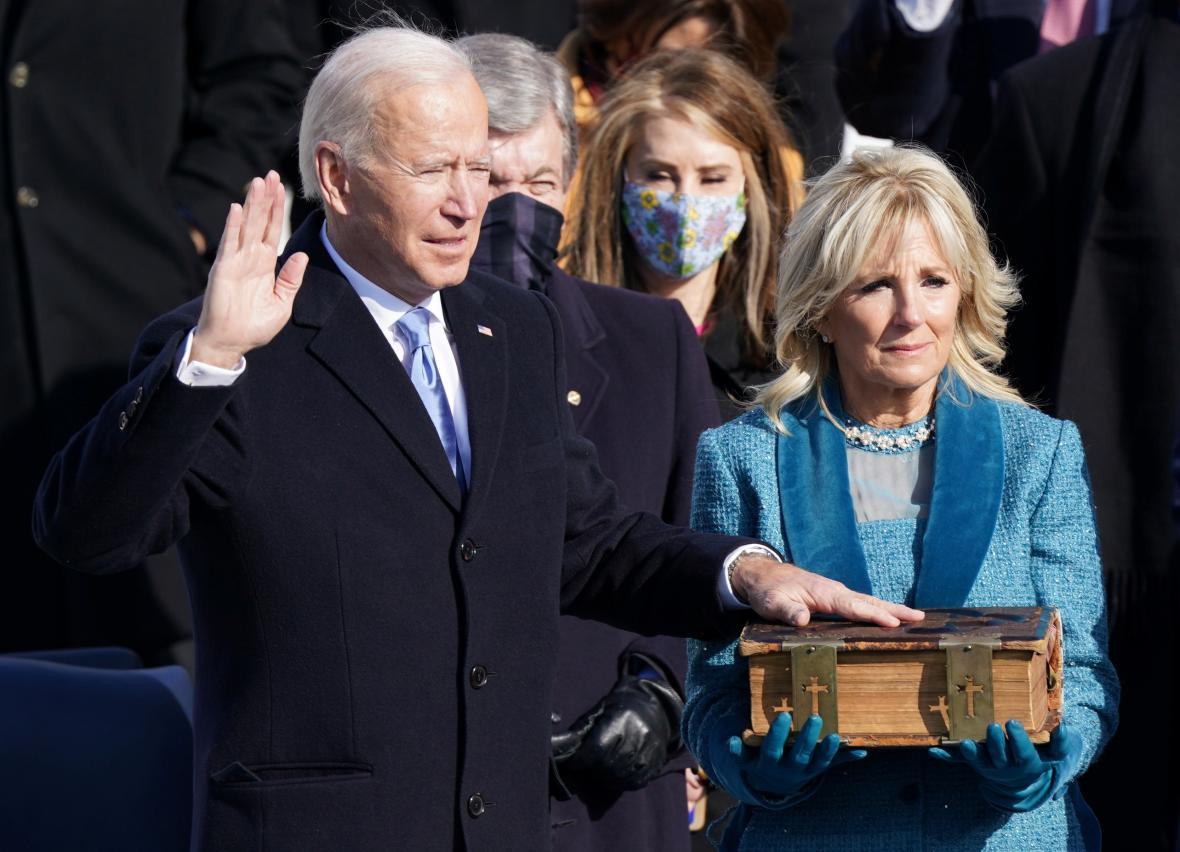 Přísaha nového prezidenta Spojených států Joea Bidena
