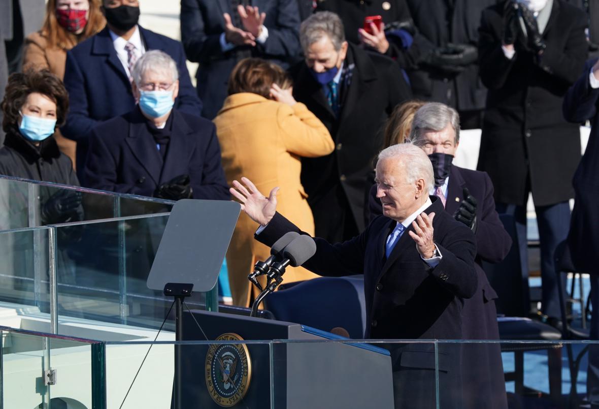 Joe Biden pronesl první projev v roli prezidenta Spojených států