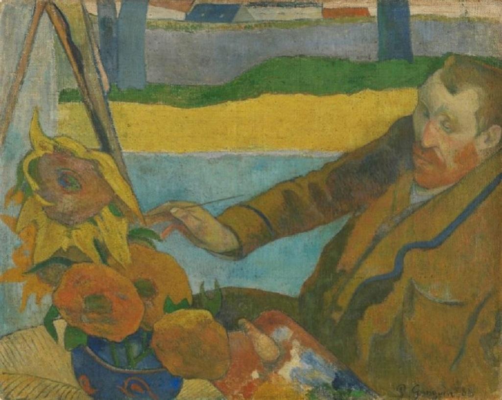 Vincent van Gogh maluje slunečnice (Paul Gauguin, 1888)