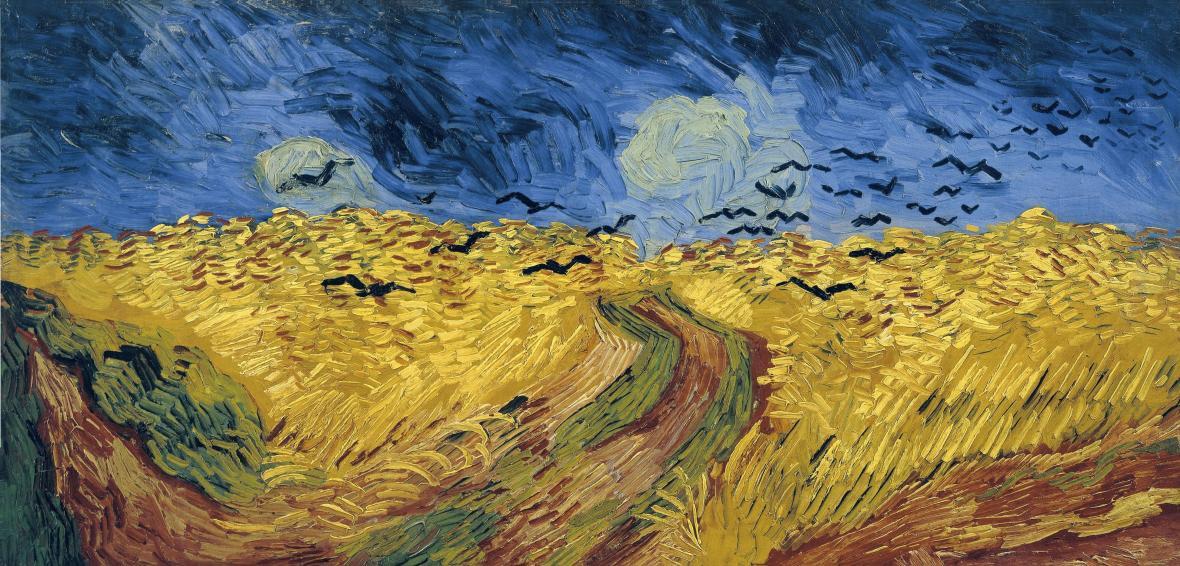 Pšeničné pole s vránami (1890)