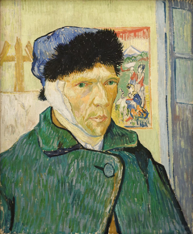 Autoportrét Vincenta van Gogha se zavázaným uchem