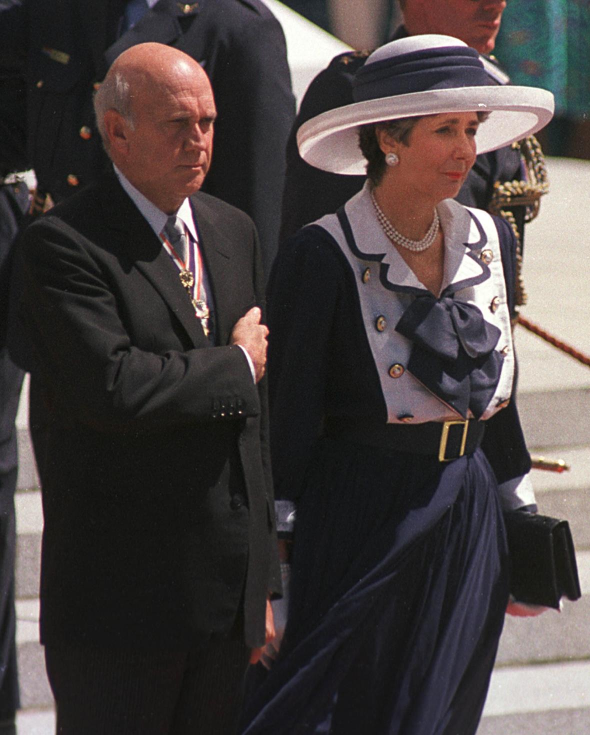 Prezident de Klerk se svojí manželkou Marike v Kapsém městě