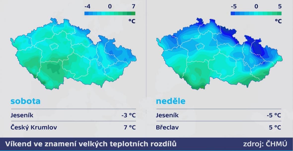 Víkend ve znamení velkých teplotních rozdílů