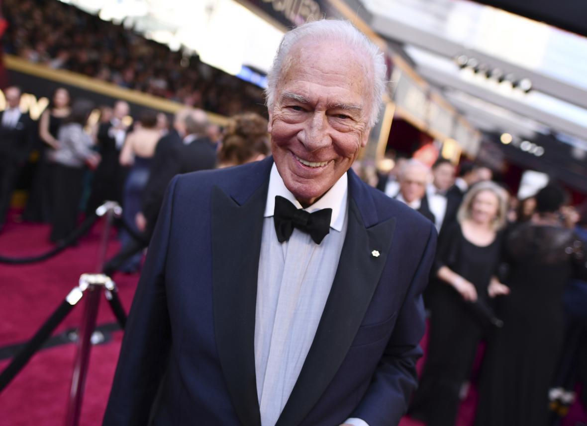 Christopher Plummer na předávání filmových Oskarů v roce 2018