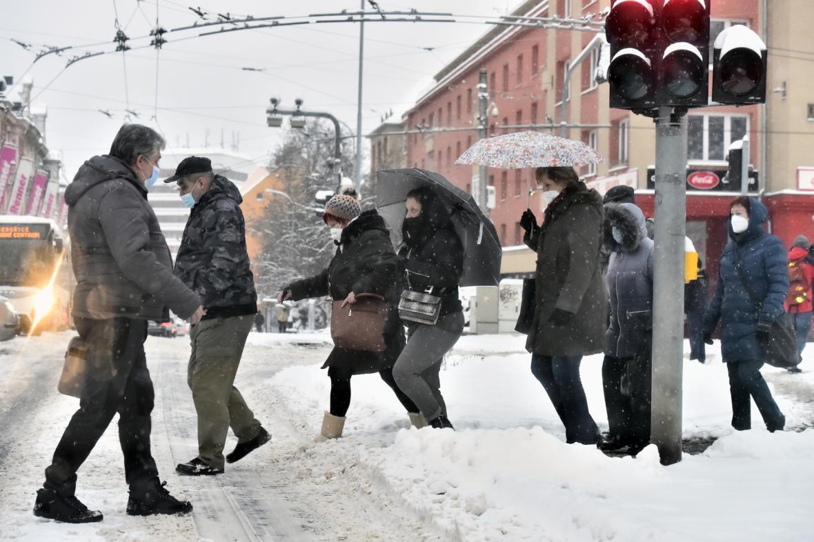 Sněhová kalamita v Ústí nad Labem