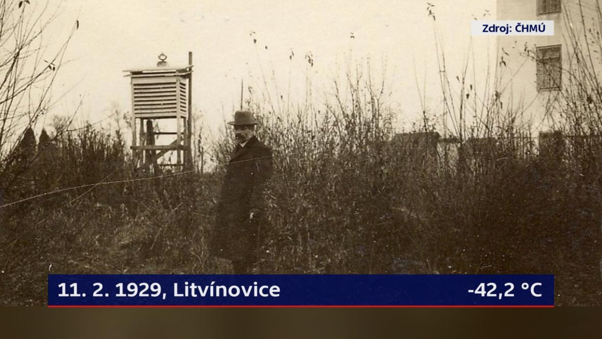 11. 2. 1929, Litvínovice, -42,2 °C