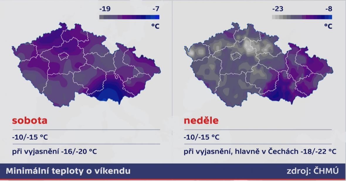 Víkendová minima v Česku