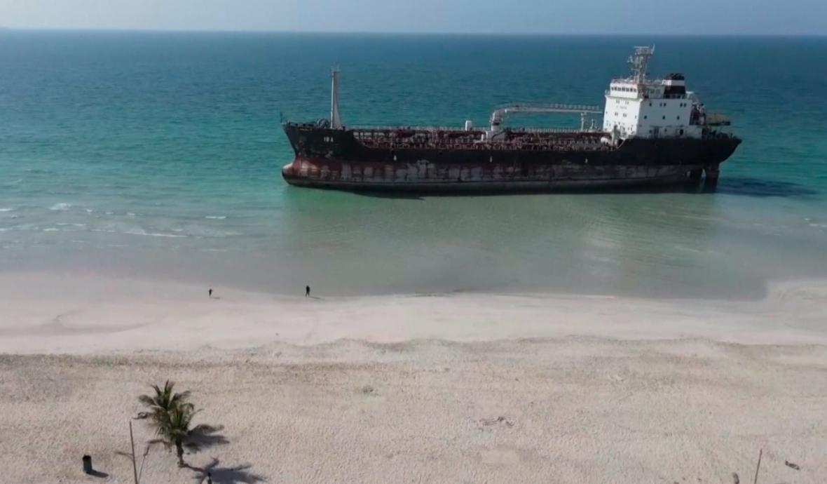 Tanker v Perském zálivu