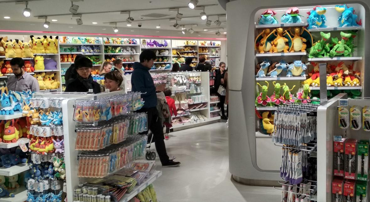 Pokémon Center v tokijské čtvrti Ikebukuro