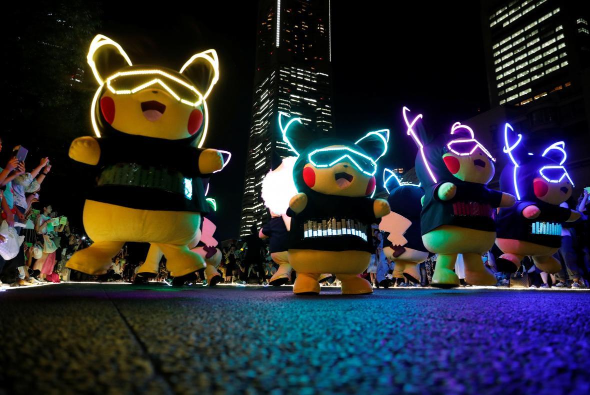 Oslava Pokémonů v japonské Jokohamě