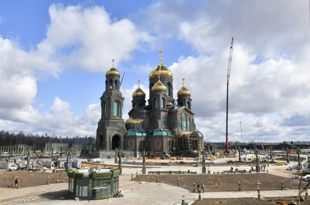 Chrám v parku Patriot postavený ministerstvem obrany