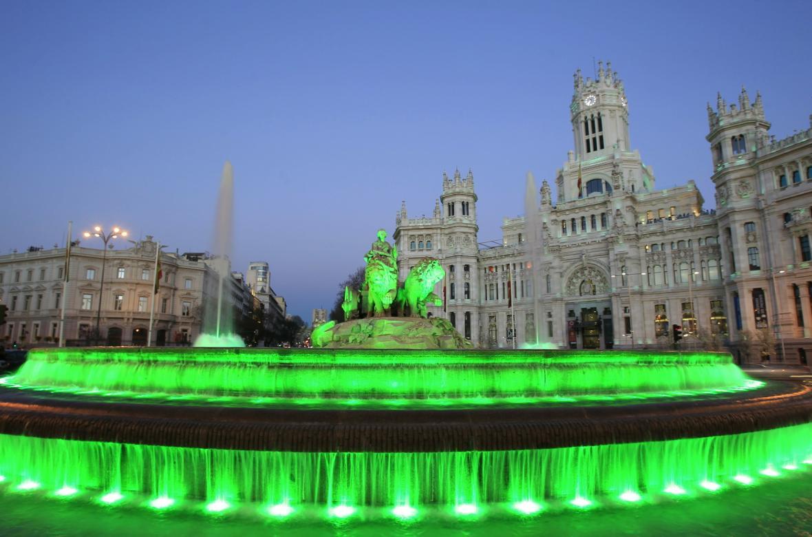 Madrid během dne oslav svatého Patrika